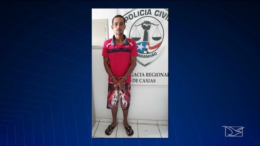 José Osael Cruz Araújo foi preso por suspeita de abuso sexual a enteada de 15 anos de idade (Foto: Reprodução/TV Mirante)