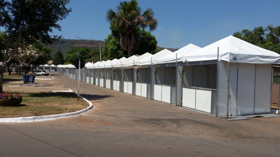 Estandes devem ficar prontos até quarta-feira, 05, para a abertura do Festival