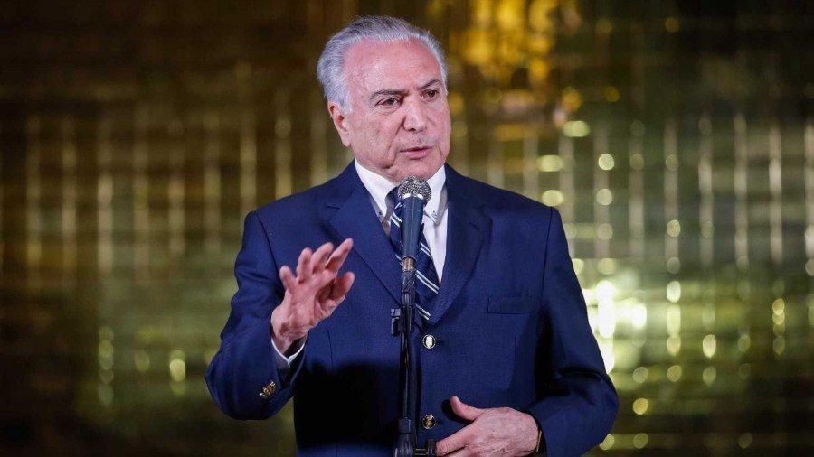 """Em uma breve fala, Temer disse acreditar que Bolsonaro fará um governo de muita """"paz"""", """"união"""" e """"harmonia"""" (Foto: Cesar Itiberê/PR)"""