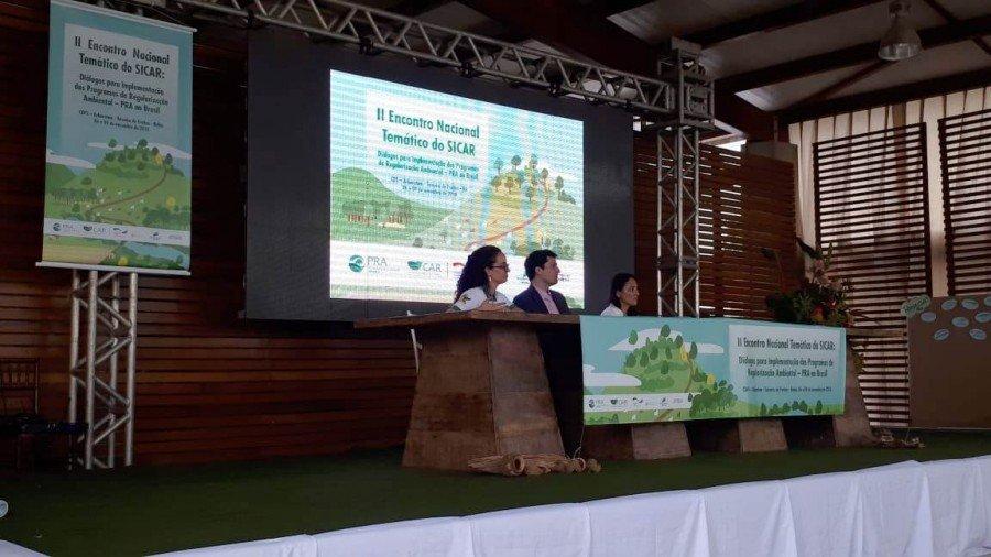 O encontro ocorre no Centro de Desenvolvimento Florestal Sustentável Arboretum, no município de Teixeira de Freitas-BA, entre 6 e 9