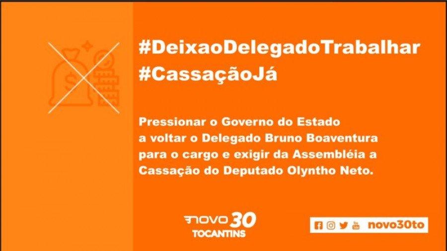 Petição do Partido NOVO contra exoneração do Delegado Bruno Boaventura e pela cassação do Deputado Olyntho Neto supera 7.000 mil assinaturas em 1 dia
