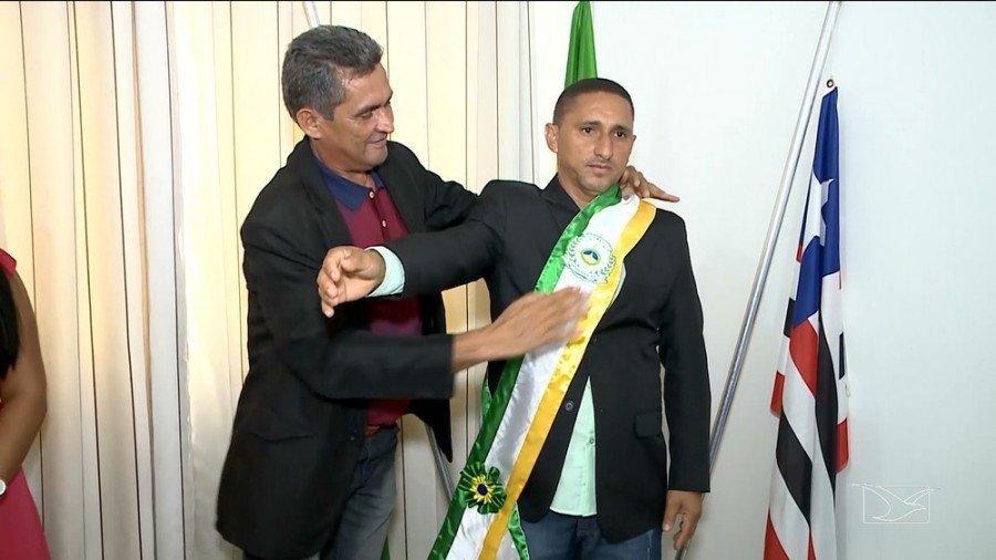 Raimundo Nonato Martins (PRB) assume prefeitura de Davinópolis-MA (Foto: Reprodução / TV Mirante)
