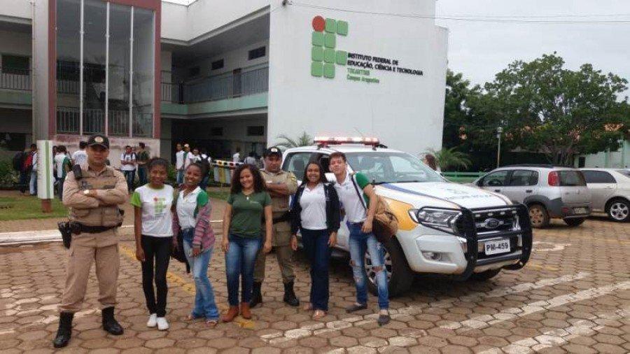 Policiamento no IFTO em Araguatins