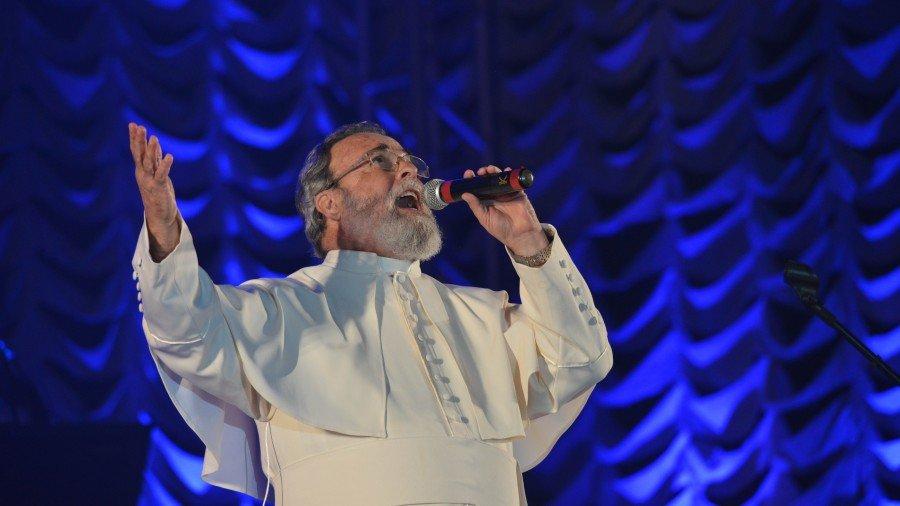 Sacerdote católico, padre Antônio Maria foi uma das grandes atrações nacionais do evento (Foto: Edu Fortes)