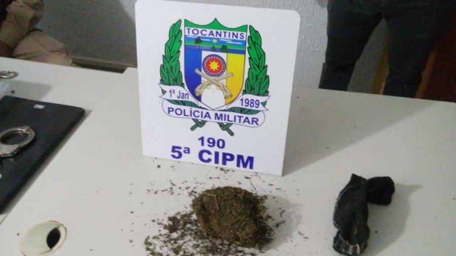Droga apreendida pela PM em Angico