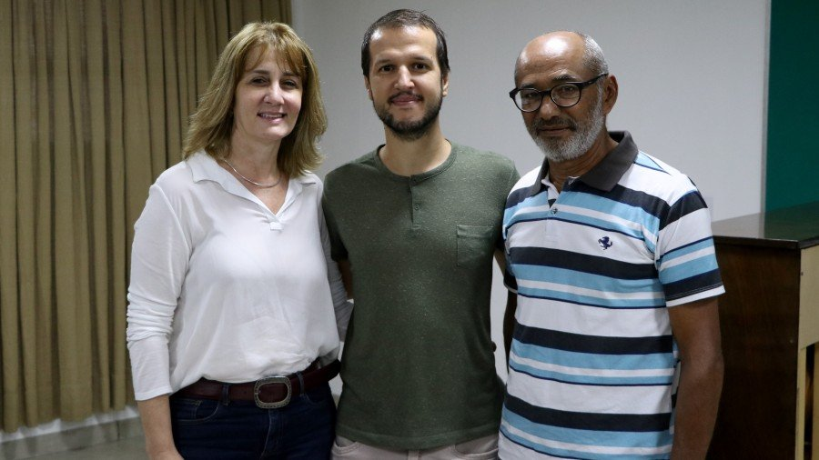 Luciane de Marque, Tales Monteiro e Almecides Pereira compõem a nova Diretoria Executiva (Foto: Júnior Suzuki)