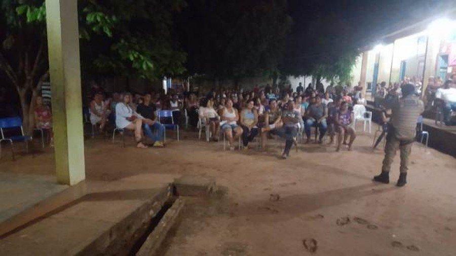 Palestra na escola estadual Irmãos Filgueiras em São Bento