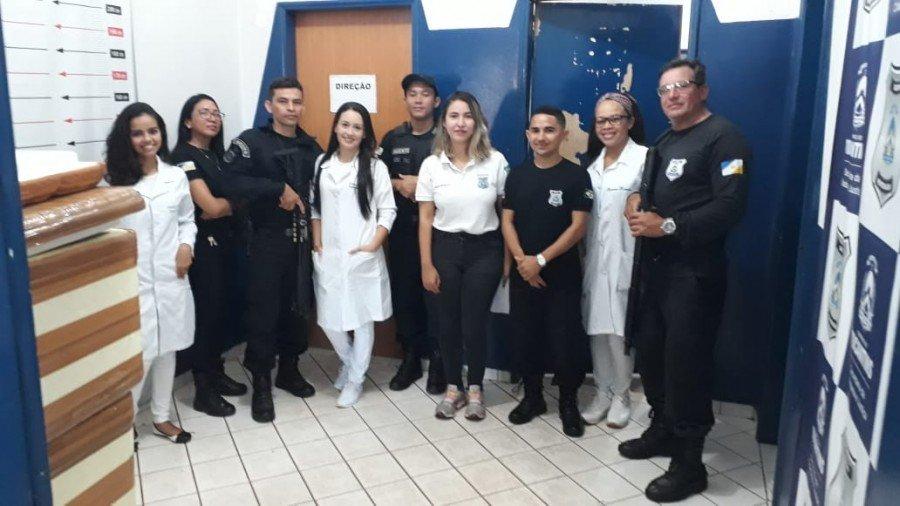 Servidores e acadêmicos participaram da ação na Cadeia Pública de Augustinópolis