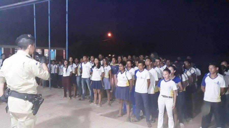 Projeto Cidadão do Futuro do 9º BPM beneficia alunos e servidores da escola estadual Cícero Gomes, em Carrasco Bonito