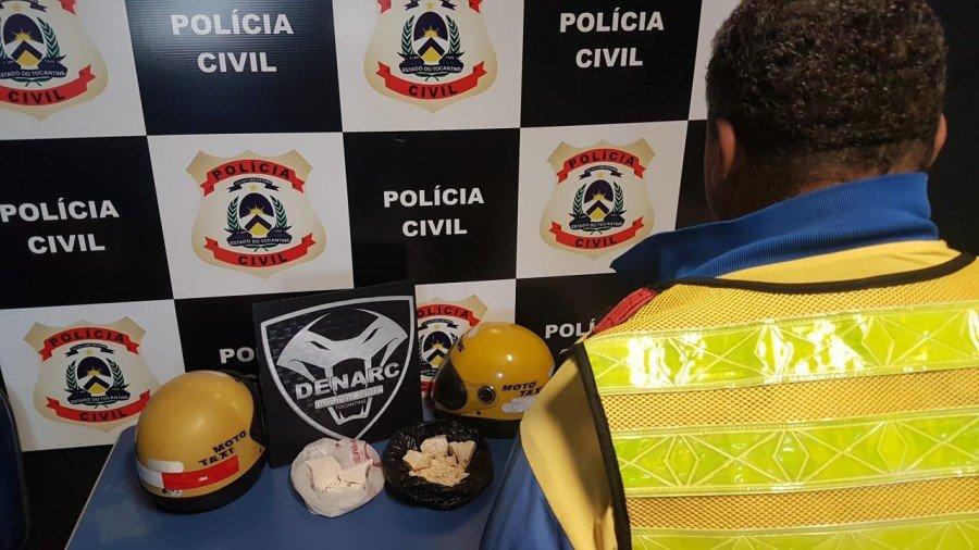 Mototaxista preso por tráfico de drogas