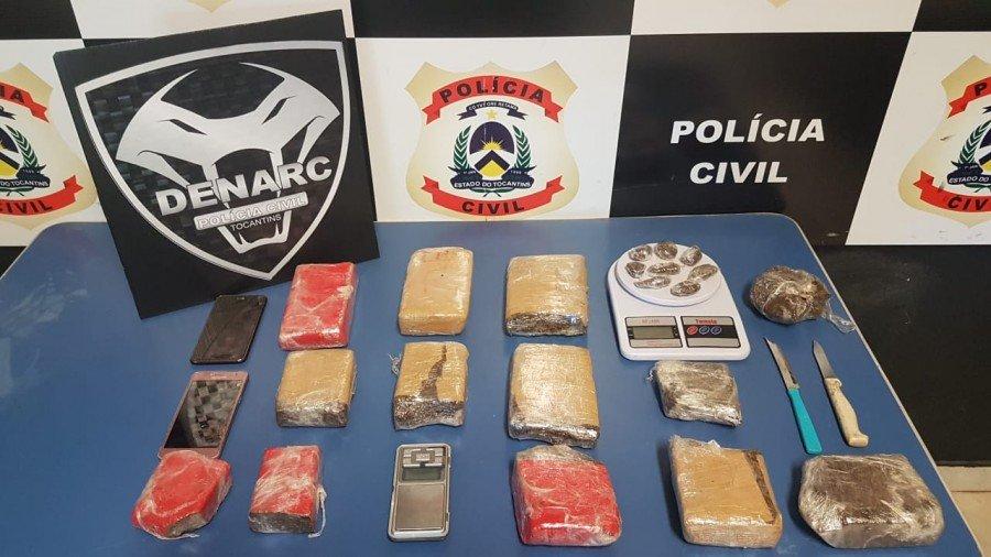 7kg de maconha apreendidas pela Polícia Civil