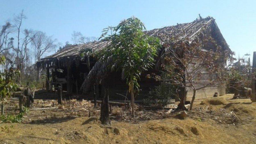 A casa que era a primeira residência própria de Eidi e Romildo (Foto: Arquivo Pessoal)