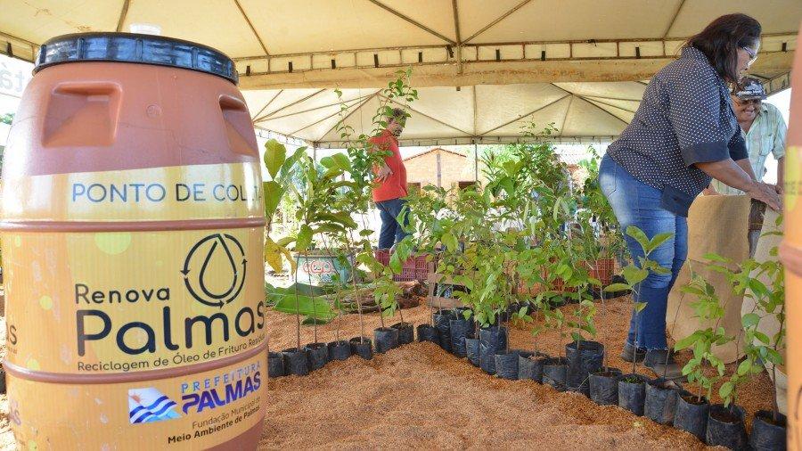 Fundação de Meio Ambiente de Palmas participa do FGT 2019 com doação de cerca de 500 mudas de reflorestamento