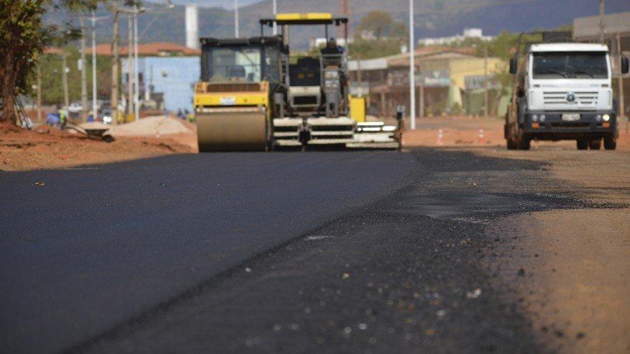 Serviços em andamento na Palmas Brasil Norte