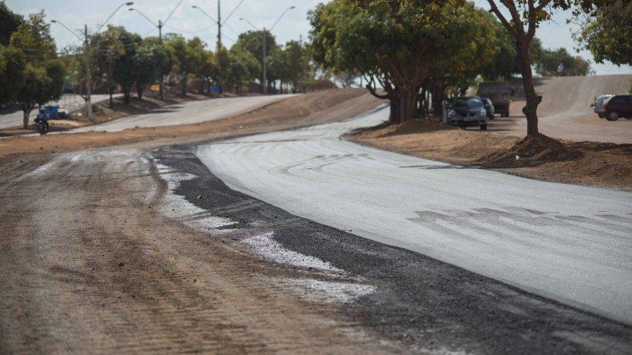 O trecho entre a NS-06 e NS-08 já teve a pavimentação concluída e já liberada para tráfego