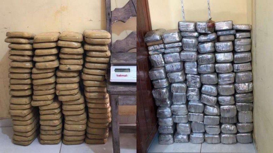 Drogas apreendidas pela polícia em Palestina do Pará (Foto: Divulgação)