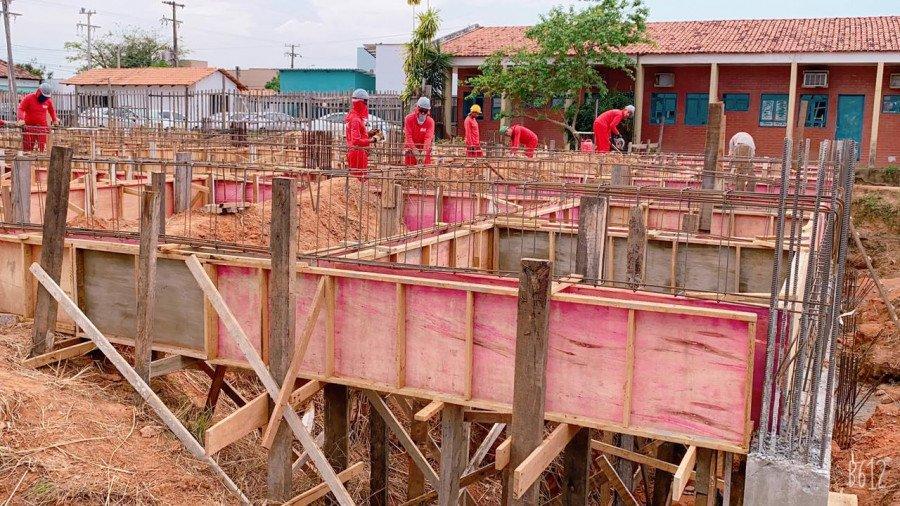 Retomada pelo Governo do Tocantins, obra da maternidade do HRAug devem ser concluída até março de 2022 (Foto: Divulgação/SES)