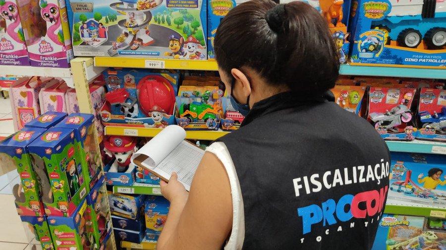 Dados foram coletados em cinco estabelecimentos comerciais de Palmas (Foto: Divulgação/Procon)