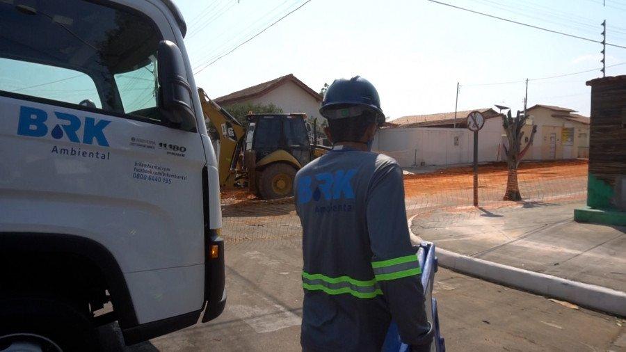 Obras da rede de esgoto em Gurupi ocorrerão de 11 a 16/10 (Foto: Divulgação/BRK Ambiental)