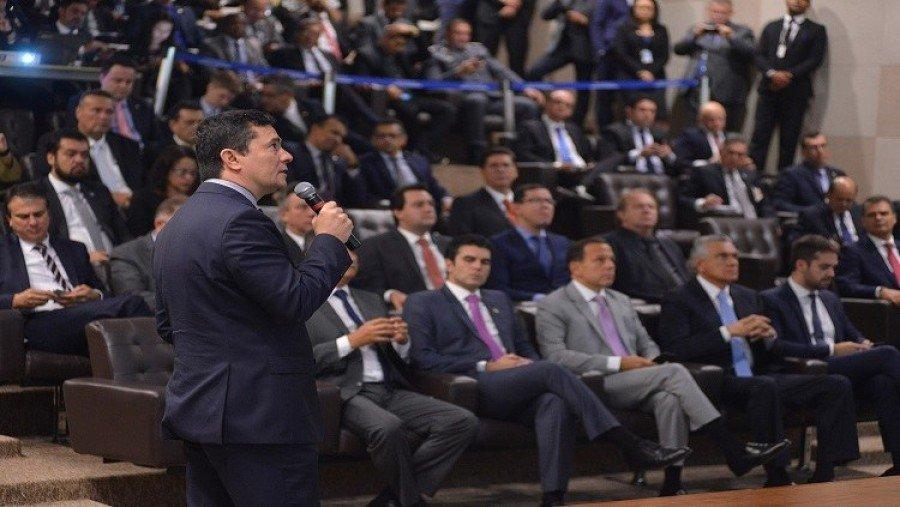 Governador Carlesse conheceu Projeto de Lei Anticrime e pediu mais investimento em segurança para os estados (Foto: Isaac Amorim/MJSP)