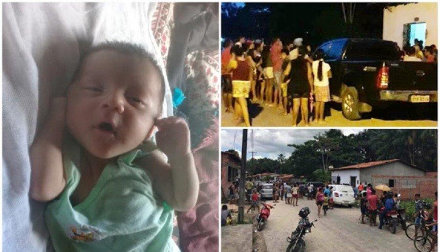 Bebê está desaparecido e a população de Belágua-MA está revoltada (Foto: Divulgação)