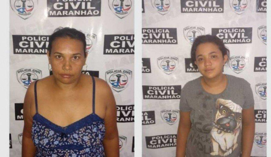 Mãe e filha foram presas acusadas de estelionato em Santa Luzia-MA