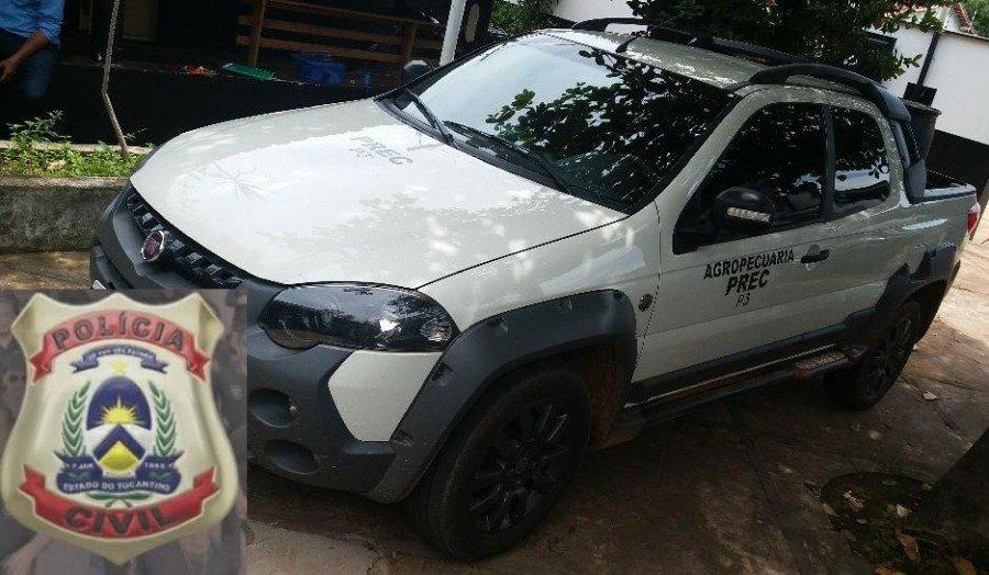 Polícia Civil apreendeu veículo clonado em Colinas