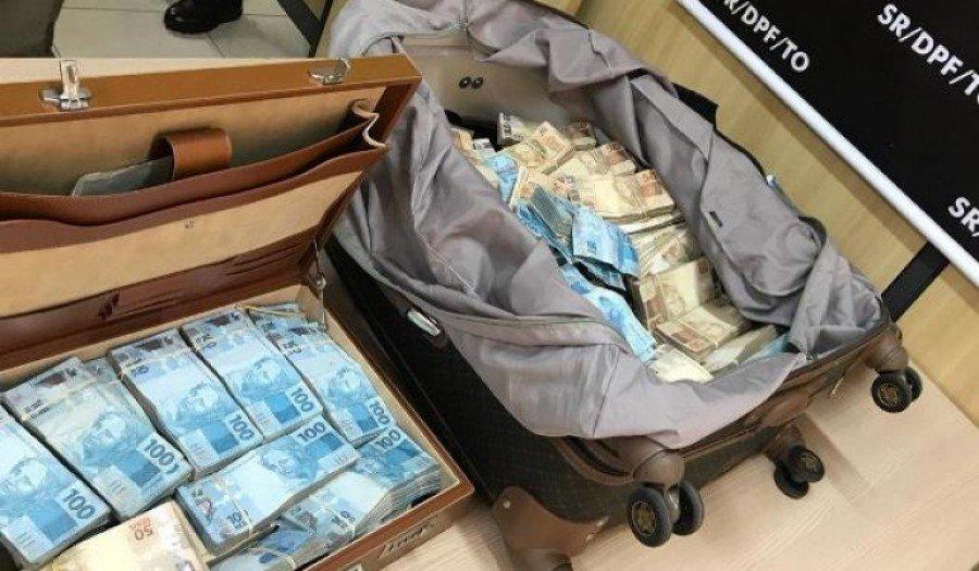 Polícia acredita que o dinheiro seja advindo de crime eleitoral com envolvimento de políticos dos estados de Pará e Goiás