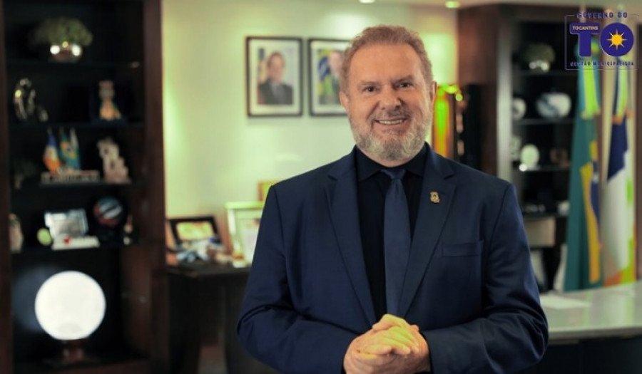 Governador faz pronunciamento nos 33 anos do Tocantins (Foto: Divulgação)
