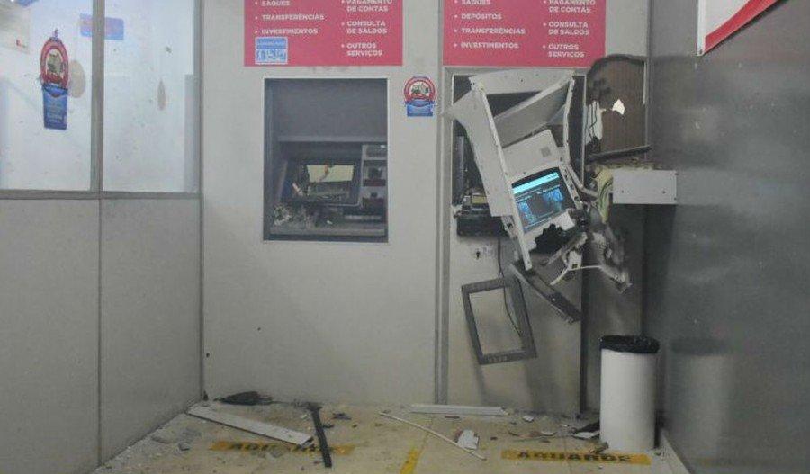 Dois caixas eltrônicos foram explodidos em Tocantinópolis (Foto: Dirceu Leno/Toc Notícias)