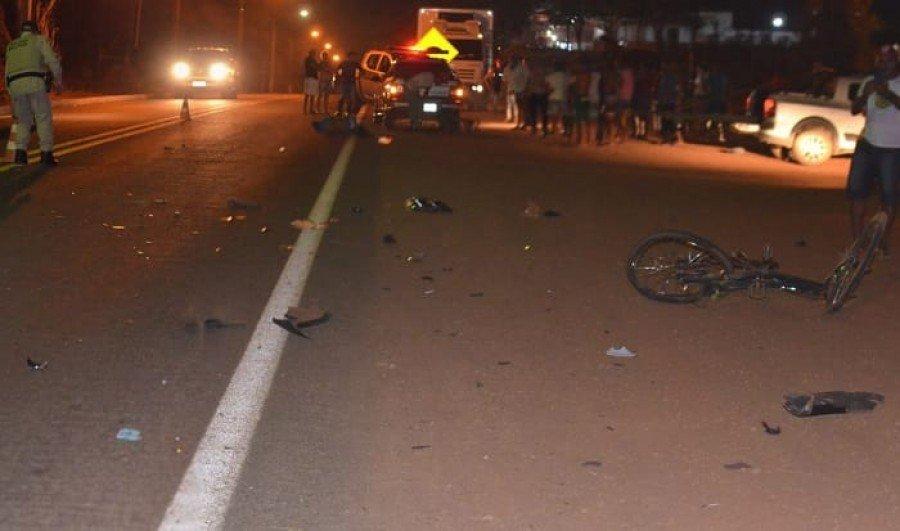 Jovem foi atropelado na TO-126, perímetro urbano de Tocantinópolis (Foto: Divulgação/TocNotícias)
