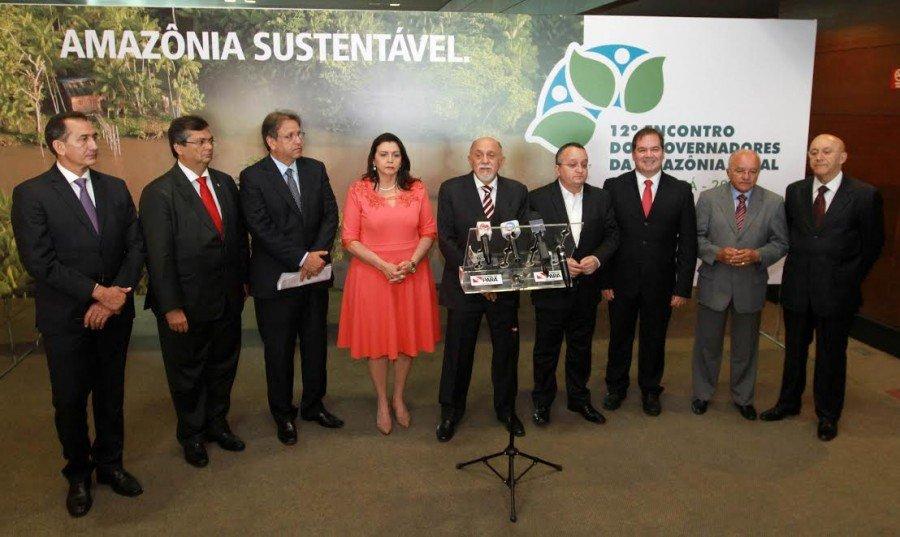 Em sua 14º Edição, o Fórum de Governadores da Amazônia Legal debate pautas inerentes aos estados componentes do bloco (Foto: Pedro Barbosa)