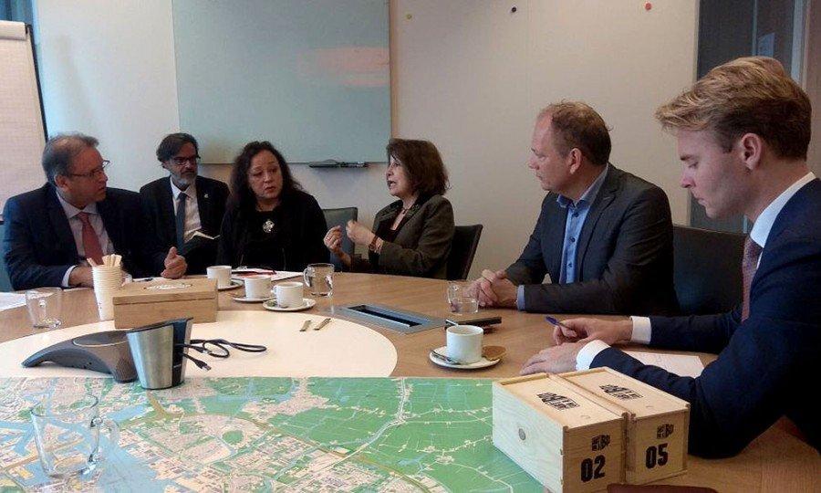 Marcelo Miranda em reunião com executivos do Porto de Amsterdã