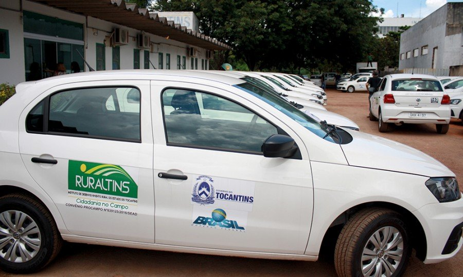 Veículos são distribuídos ao Ruraltins de Araguatins e demais regionais do órgão no TO (Foto: Manoel Lima)