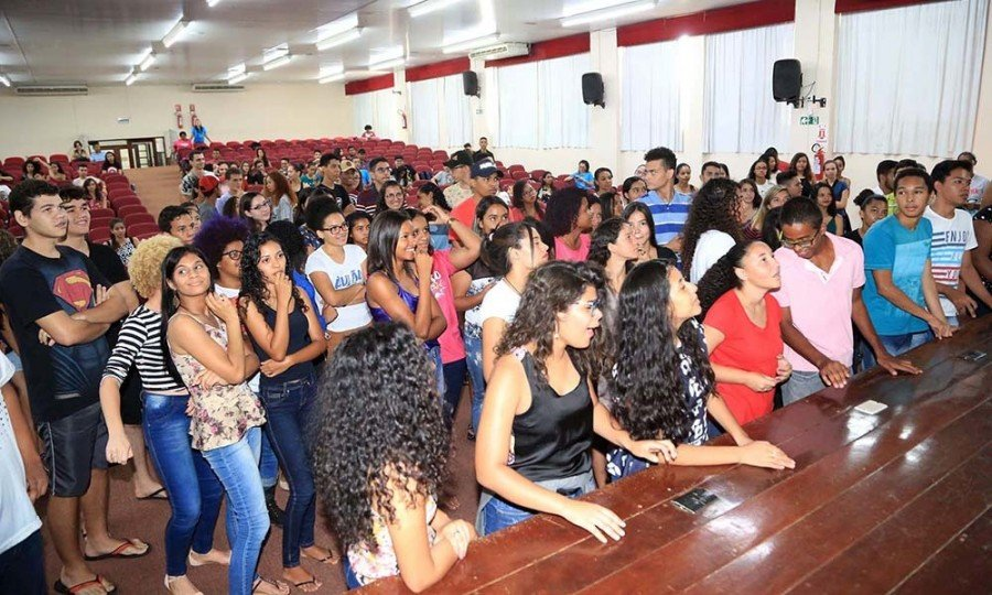 Encerramento do Aulão do Enem pela Secretaria da educação (Foto: Nilson Chaves)