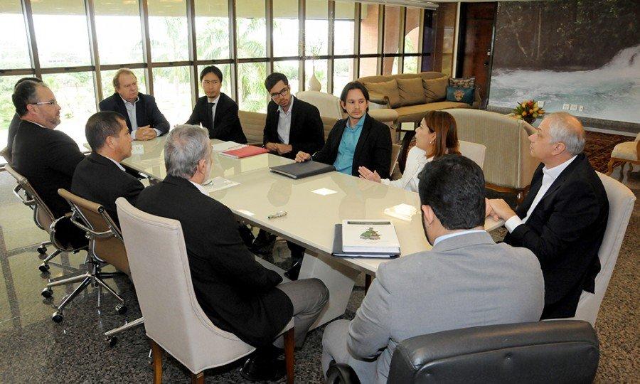 Técnicos do Banco Mundial foram recebidos pelo governador Mauro Carlesse na manhã desta quarta-feira, 7 (Foto: Esequias Araújo)
