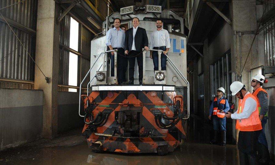 Mauro Carlesse visitou a Empresa VLI da Plataforma Multimodal de Porto Nacional