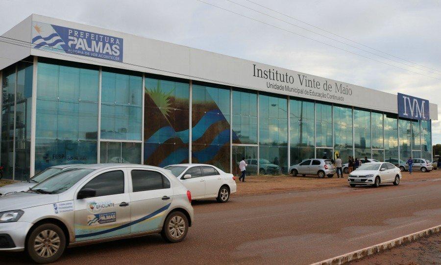 Instituto 20 de Maio faz menção à Palmas, lembrando a data do aniversário da cidade (Foto: Gabriela Martins)