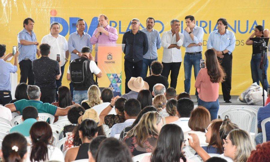 Em Araguatins, o Governador Carlesse participou das Consultas Públicas do PPA 2020/2023 e se reuniu com prefeitos (Foto: Esequias Araújo)