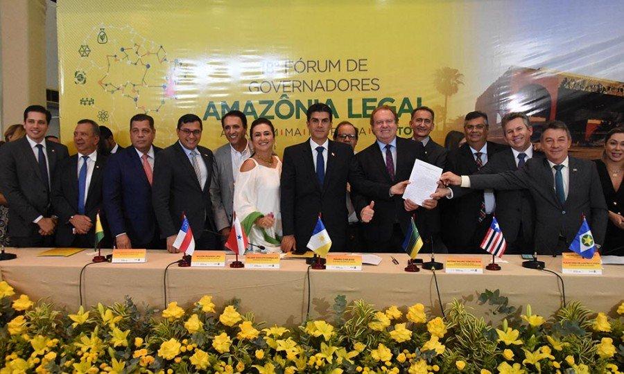 Carta de Palmas manifestou preocupação de governadores com avanço do desmatamento ilegal na Amazônia Legal