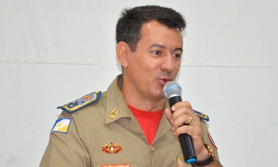 Comandante-geral do Corpo de Bombeiros Militar do Estado do Tocantins, coronel Reginaldo Leandro da Silva (Foto: Nielcem Fernandes)