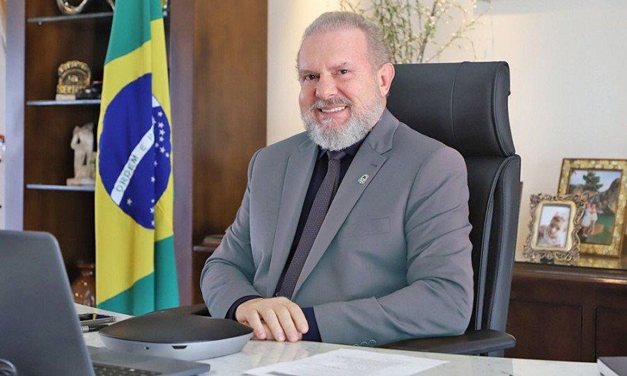 O governador do Tocantins, Mauro Carlesse, participa da cerimônia que será realizada nesta quinta-feira, 23, no Palácio Araguaia