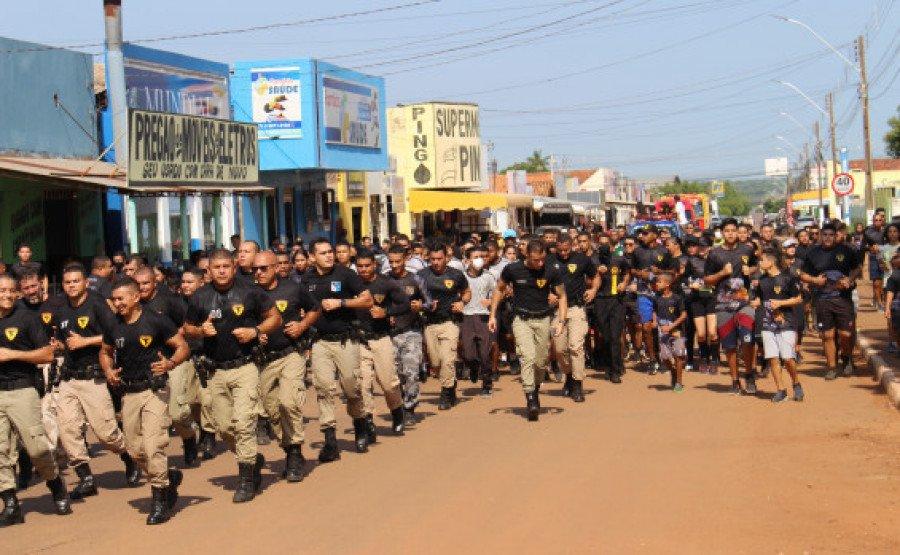 Equipes da FT e demais participantes do V Corridão (Foto: Divulgação/9° BPM)