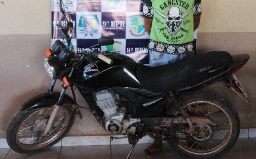 Moto recuperada pela PM em Augustinópolis