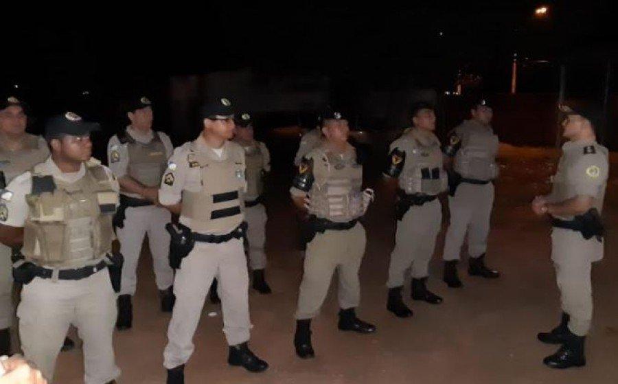 PM realizou treinamento sobre cerco e bloqueio de unidade na área do 2º Pelotão de Ananás