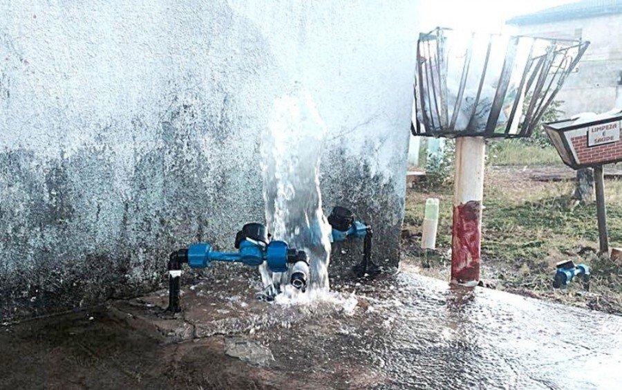 Hidrômetros foram quebrados em Tocantinópolis (Foto: Divulgação/Polícia Militar)
