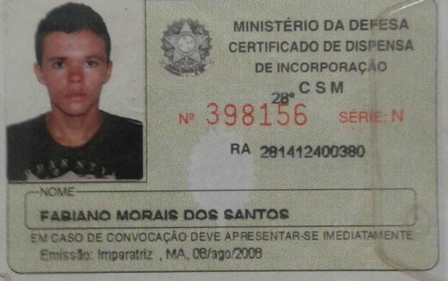 Fabiano é suspeito de ter participado de um roubo a banco em Araguatins
