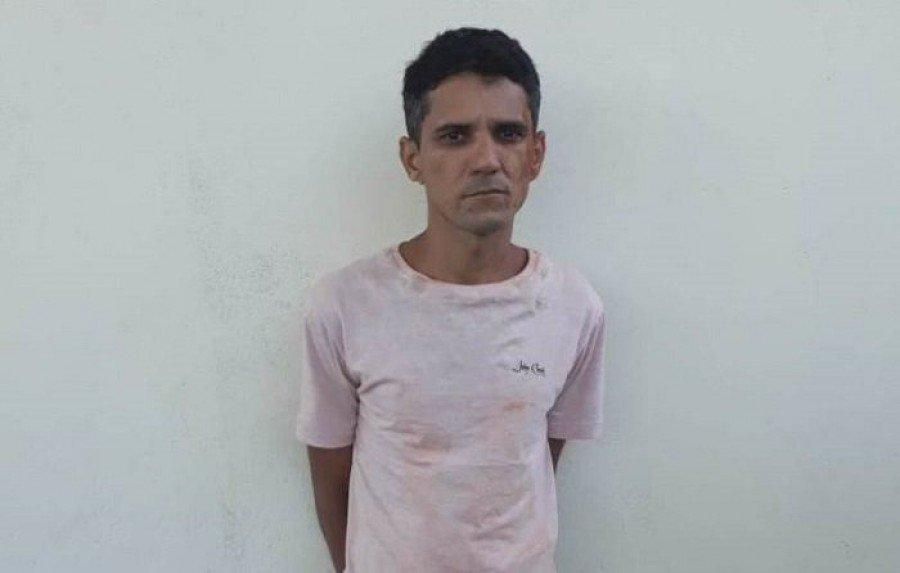 PM localizou Ailton Araújo Rocha, escondido em uma fazenda no município de Brejo Grande do Araguaia (PA)