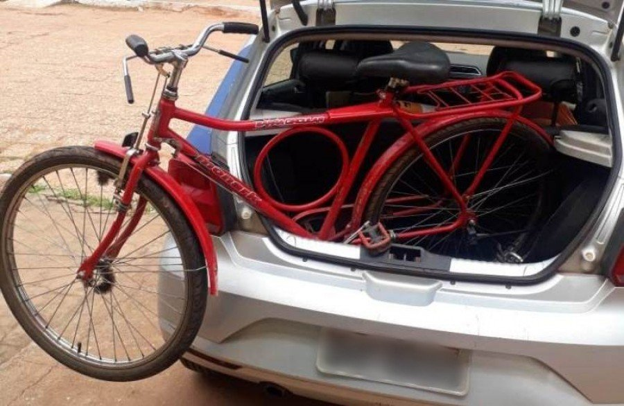 Bicicleta apreendida pela PM em Axixá