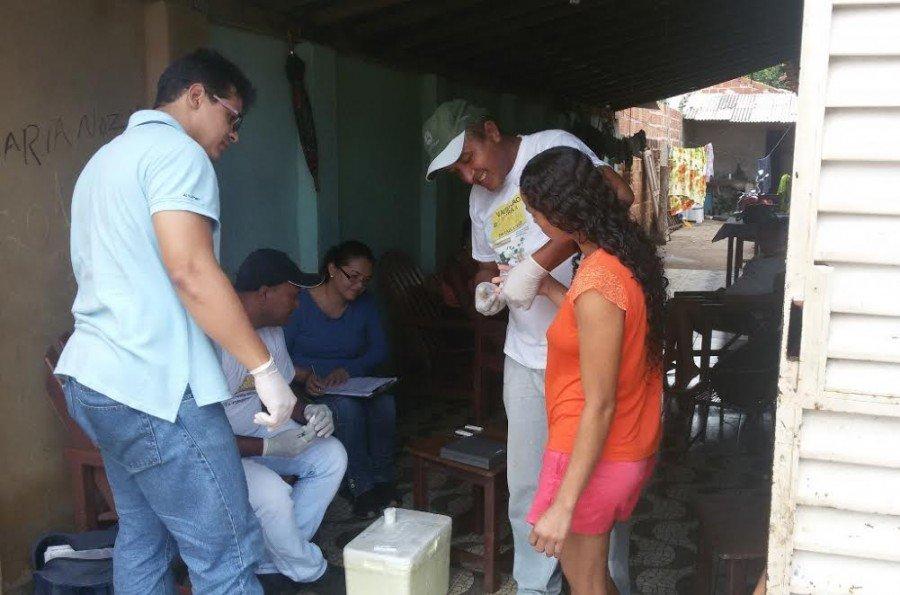 Técnicos do Estado foram a Araguatins auxiliar municipio no trabalho contra malária